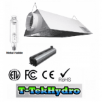 ELECTRONIC DIMMABLE 1000W BALLAST FAN COOLED – 1000W Metal Halide GROW LAMP – Glloria Air-Cooled 6 Reflector Complete Kit
