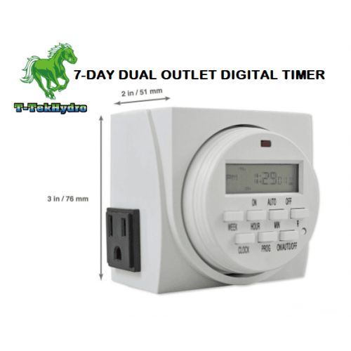 7-DAY GROUNDED DUAL OUTLET DIGITAL TIMER